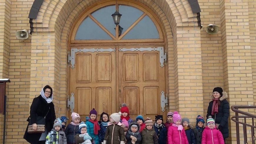 Przedszkolaki  w cerkwi